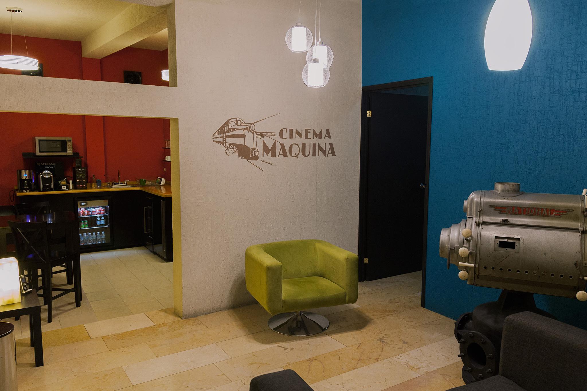 Cinema máquina. Amenidades